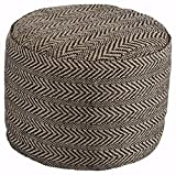 Ashley Furniture Signature Design - Chevron Pouf - Vintage Casual - Handmade - Natural