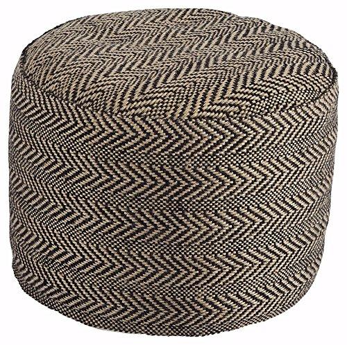 Ashley Furniture Signature Design - Chevron Pouf - Vintage Casual - Handmade - (Miles Storage Ottoman Bench)