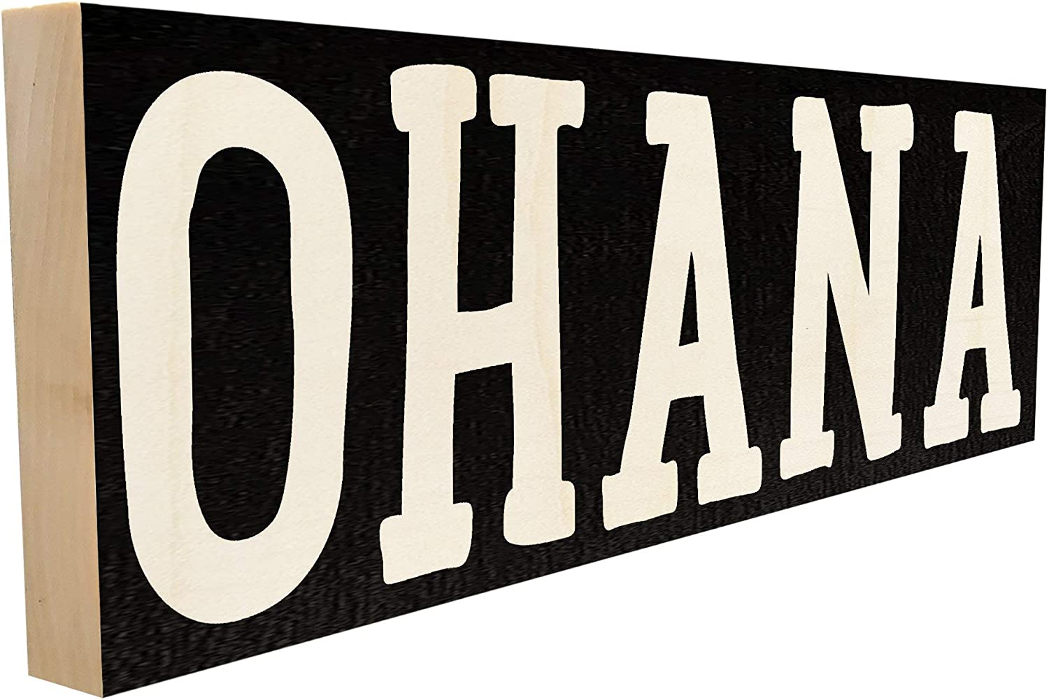 Sawyer's Mill Ohana - Family in Hawaiian - 4 inch x 12 inch - Solid Wood Sign