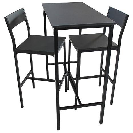 Tavolo Bar Sgabelli.Yelloo Set Tavolo Bar E 2 Sgabelli Arredamento Mobili Cucina H 96cm Set Lignano