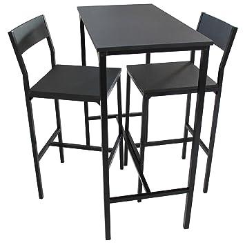 Tavoli E Sgabelli Per Bar.Yelloo Set Tavolo Bar E 2 Sgabelli Arredamento Mobili Cucina H 96cm Set Lignano