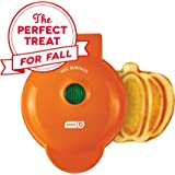 Dash DMWP001OR Machine for Individual, Paninis, Hash Browns, other Mini waffle maker, 4 inch, Orange pumpkin