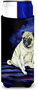 Caroline's Treasures 7026MUK Fawn Pug Penny for your thoughts Ultra Beverage Insulators for slim cans, Slim Can, multicolor