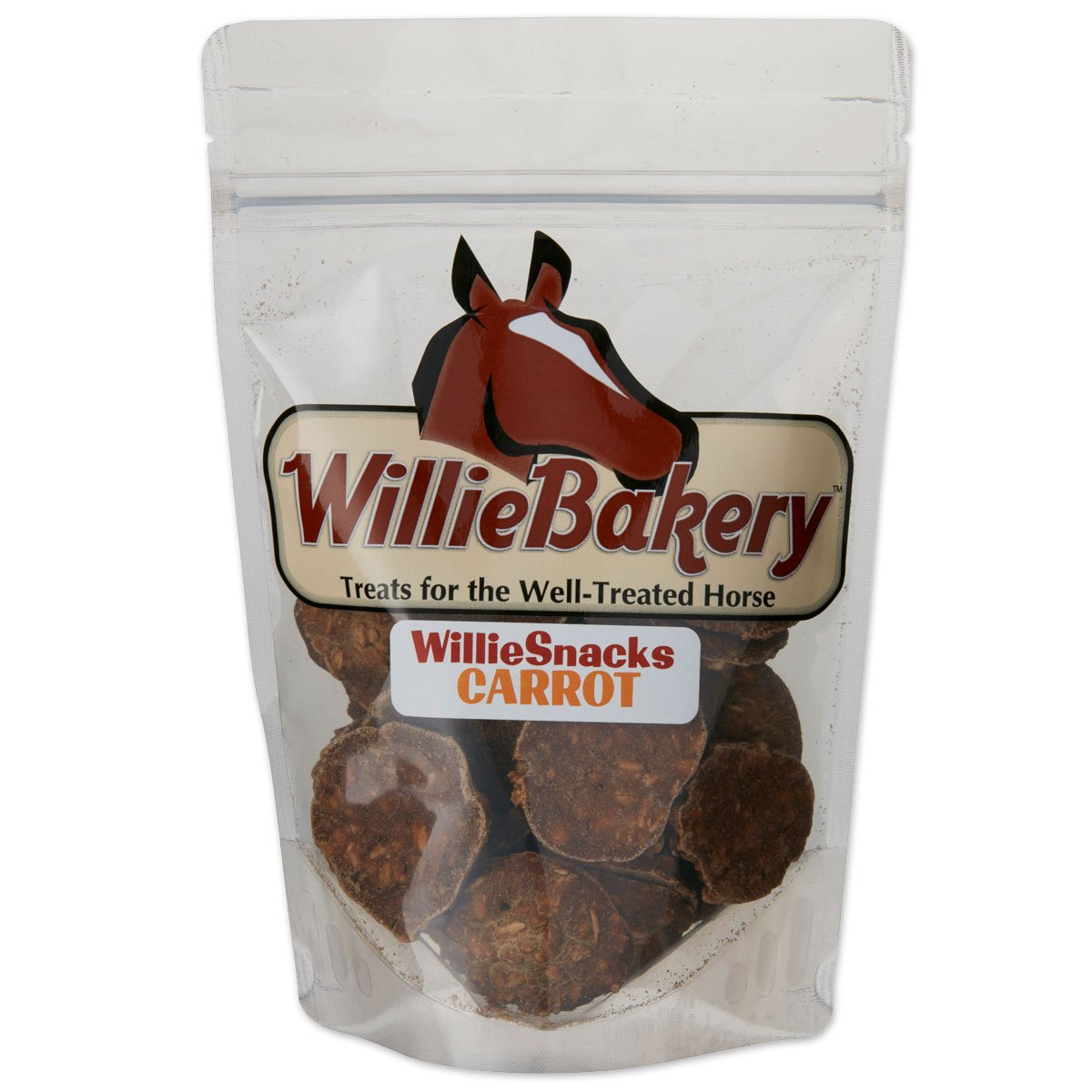 WillieMuffins Carrot Snacks 3 pounds  Horse Treats (1 Pouch)