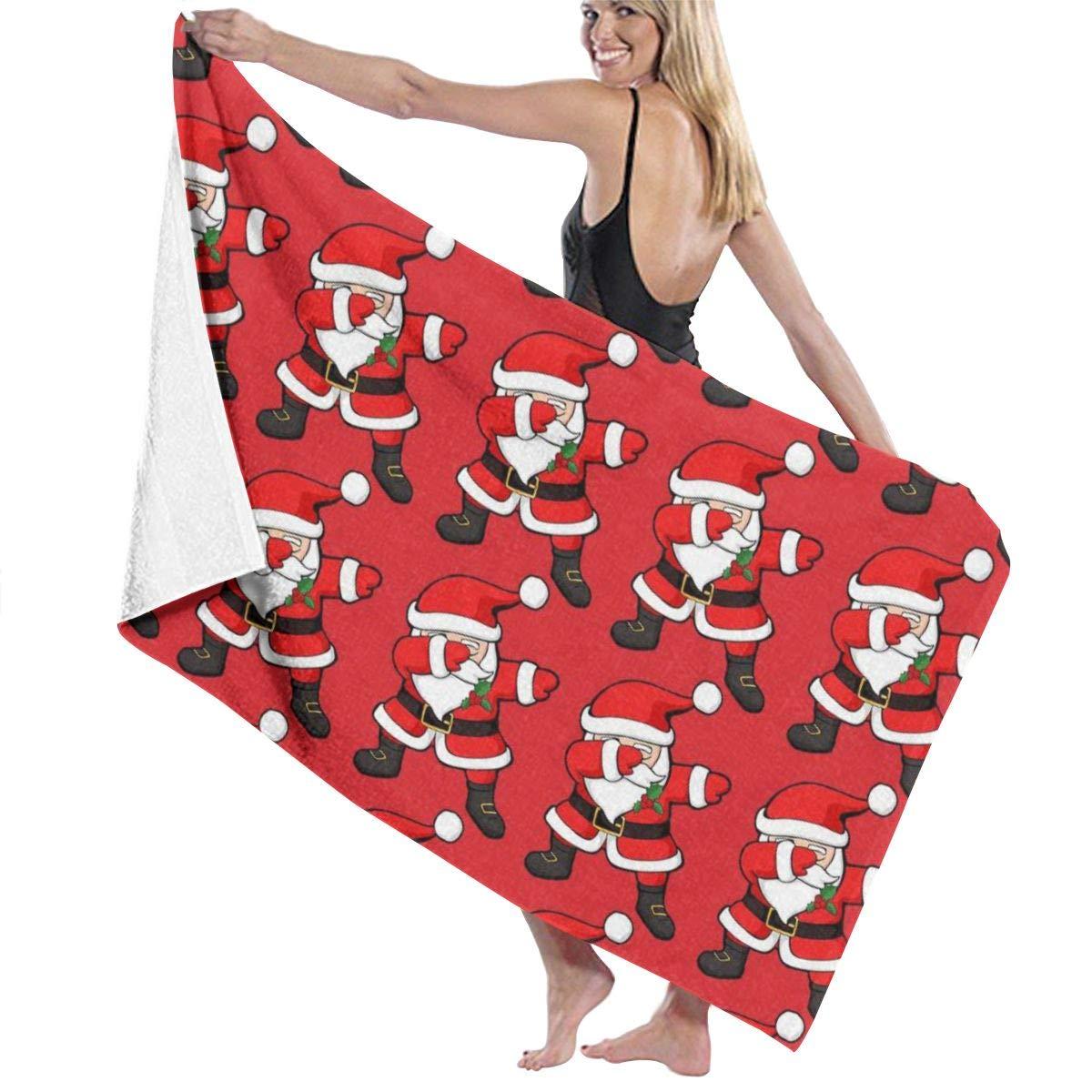INWANZI 32'' x 51'' Oversized Luxury Bath Towels, Super Soft Highly Absorbent Quick Dry for Bathroom/Shower/Gym/Fitness/Yoga/Sports - Funny Santa Claus Christmas Dab Bath Sheet