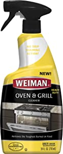 Weiman Oven & Grill Cleaner - 24 Ounce - Broiler & Drip Pans, Oven & Ceramic Grill Interiors, & BBQ Grill Grates