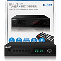 UBISHENG Digital TV Converter Box, 1080P ATSC Converters with PVR Recording&Playback, HDMI Output, Timer Setting LED…
