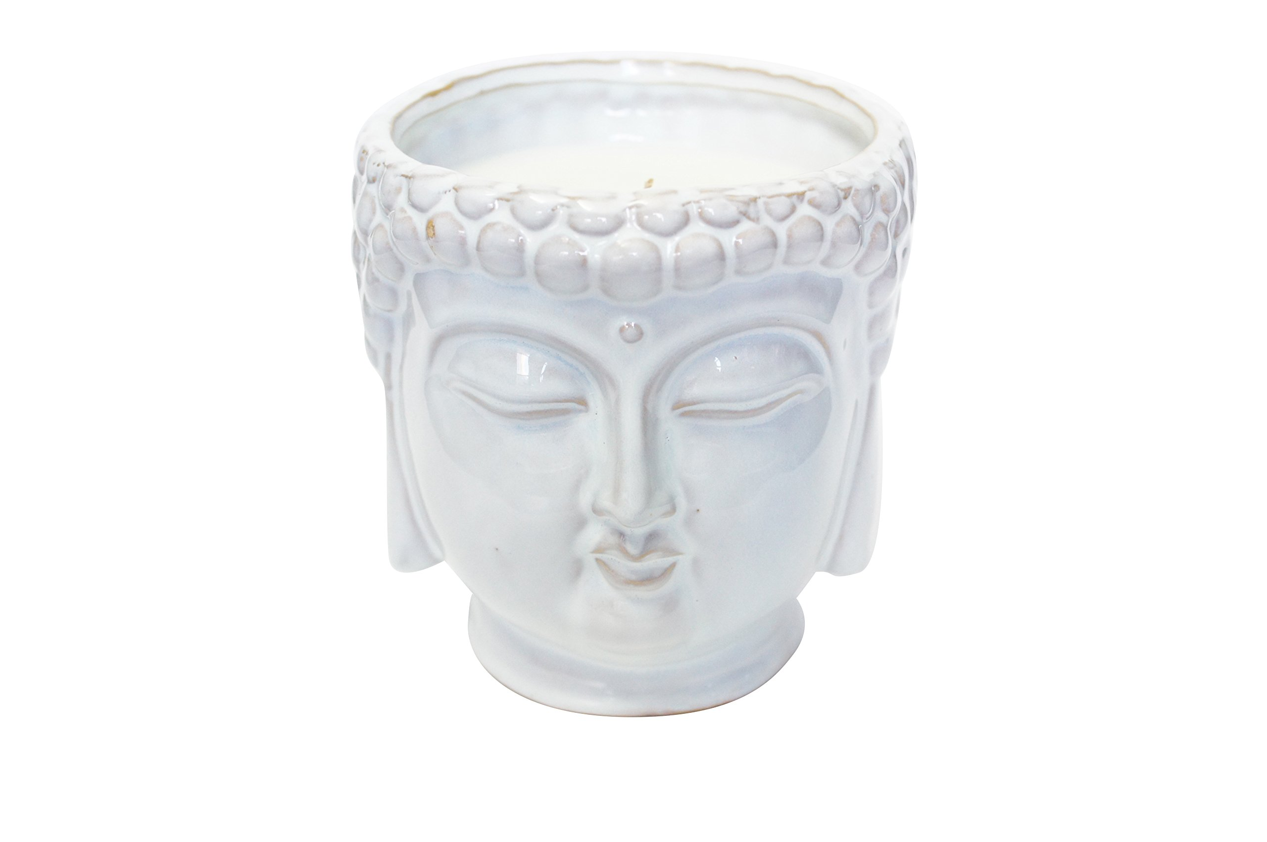 Thompson Ferrier – Buddha scented candle collection – Lotus and lily fragrance Home Decor Candle - White - Hand sculpted and hand poured with the finest essential oils