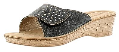 Style Inblu à Femmes avec Enfiler Mule Sandales Fermeture Basique TqaXrwT