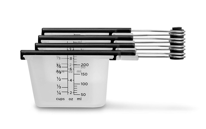 Dreamfarm Levups Set of 4 Self-Leveling Measuring Cups Black