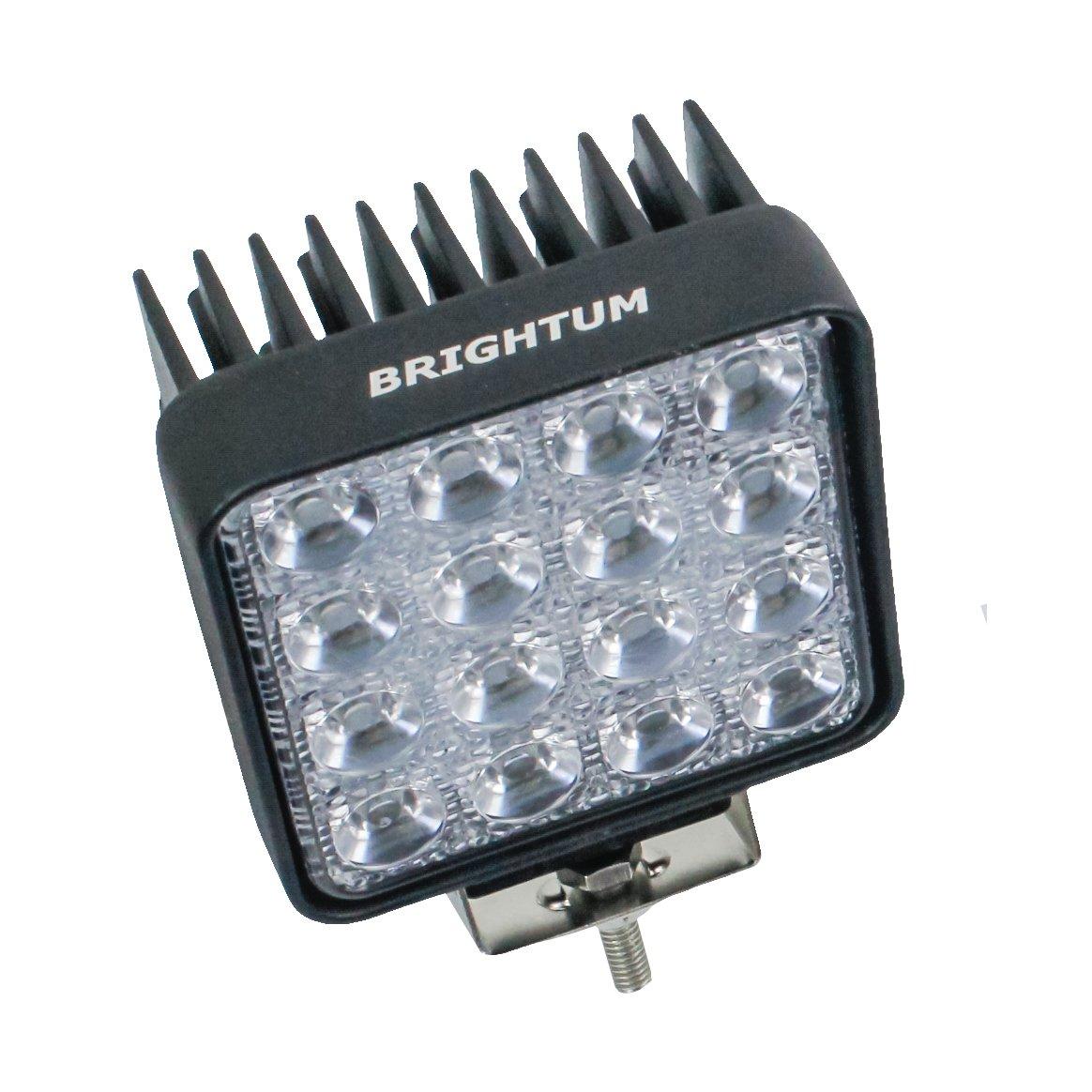 BRIGHTUM 4.3 48W LED Offroad Arbeitsscheinwerfer wei/ß 12V 24V 4560 Lumen Flutlicht Reflektor worklight Scheinwerfer Arbeitslicht SUV UTV ATV Arbeitslampe Traktor Bagger