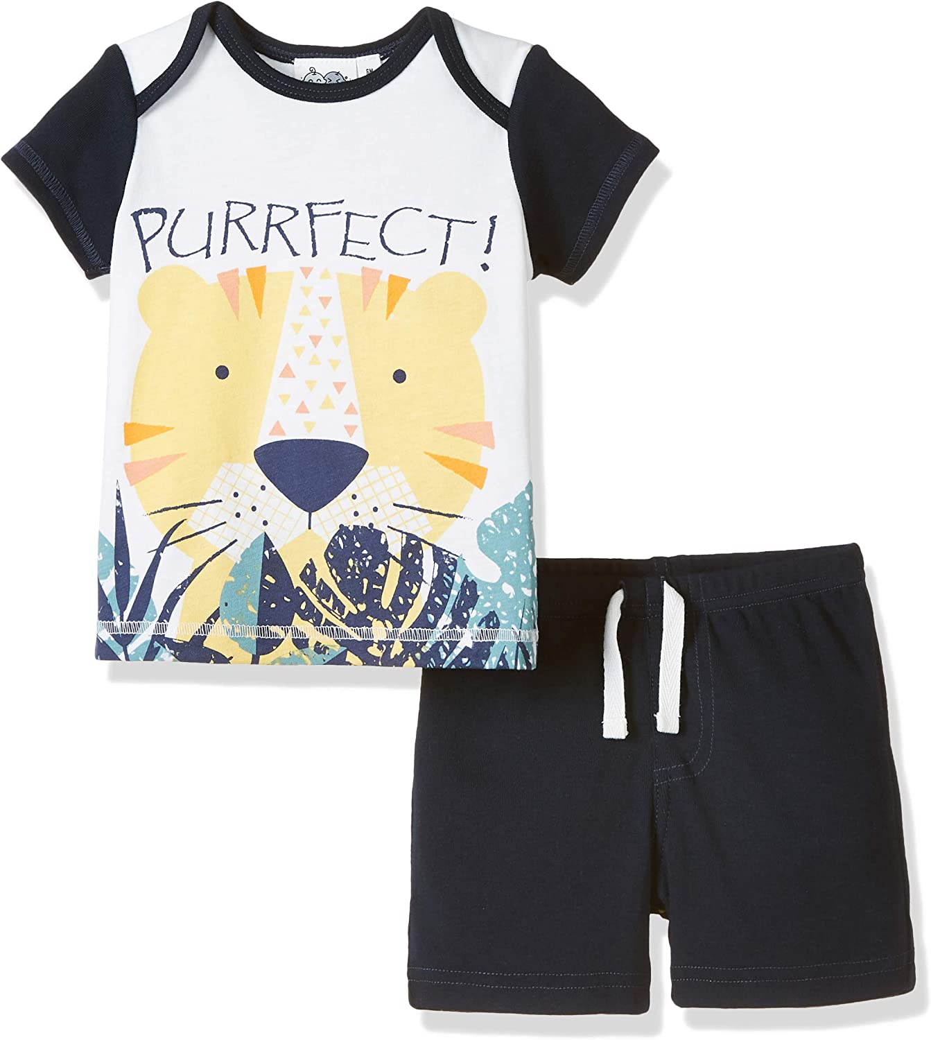 Silly Apples Unisex Baby Spring Outfit 2-Piece Short-Sleeve T-Shirt and Pant Set