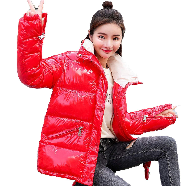 Red Lucky Shop Women's SingleBreasted Down Jacket Down Jackets Warm Winter Pockets Coat Parka Woman Outwear