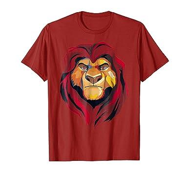 eb4278176 Amazon.com: Mens Disney Lion King Mufasa Geometrics Graphic T-Shirt 2XL  Cranberry: Clothing