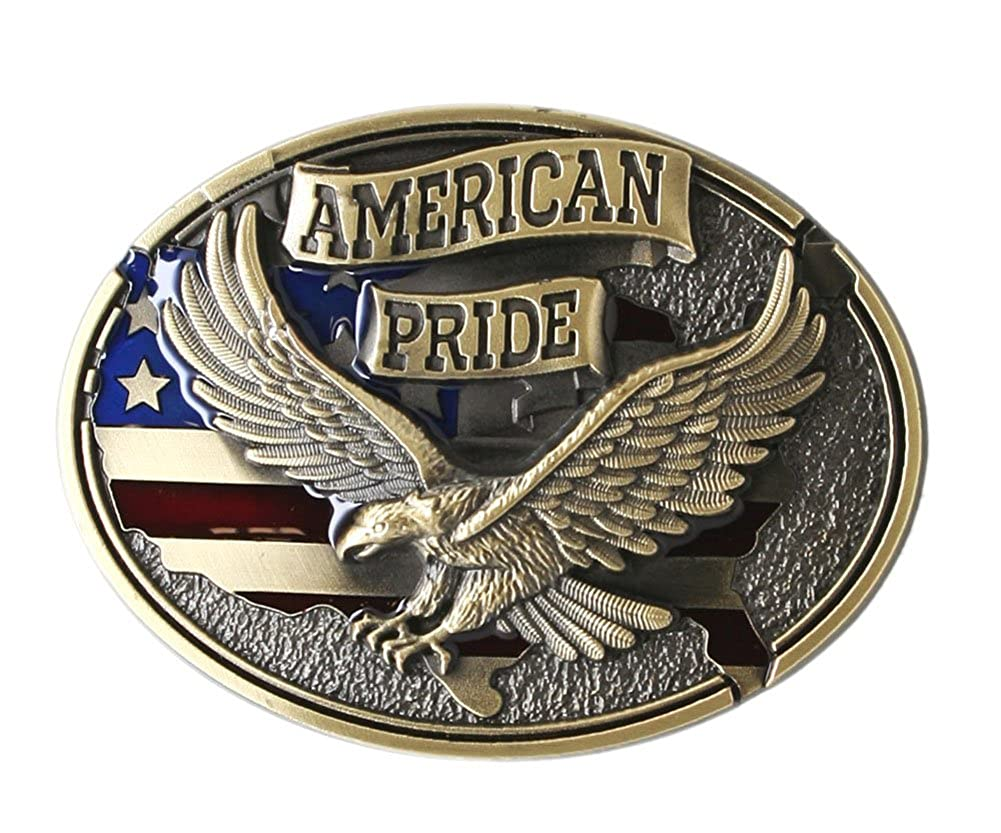 American Pride Eagle Belt Buckle - Bronze Color