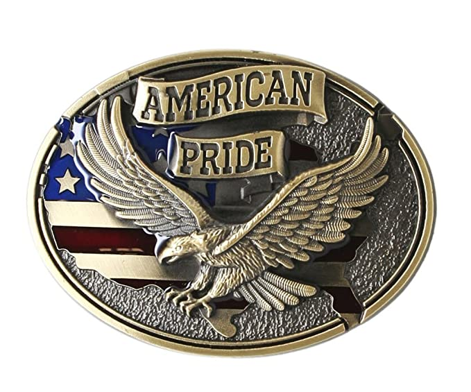 ea8385707 Image Unavailable. Image not available for. Color  American Pride Eagle  Belt Buckle - Bronze Color