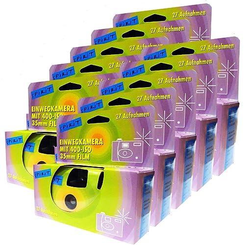 10x Disposable Camera / Wedding Camera / Disposable Camera 27 Photos with Flash, 10 Pack)