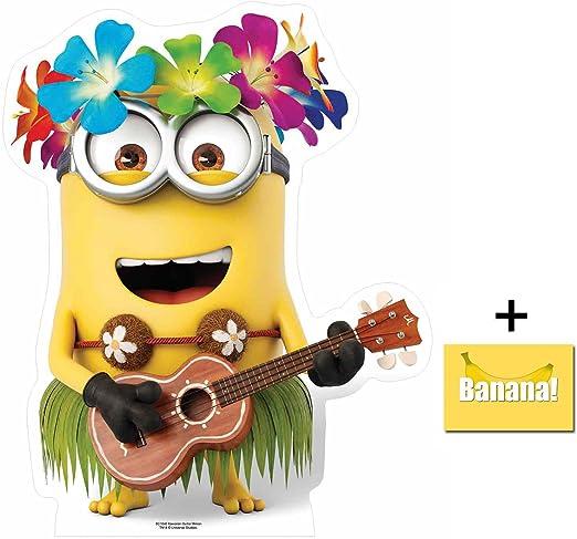 Ventilador unidades – Minion con guitarra de Hawaii Despicable Me – 3 Minions Mini cartón/de/Tamaño Real – incluye 8 x 10 fotografía: Amazon.es: Hogar