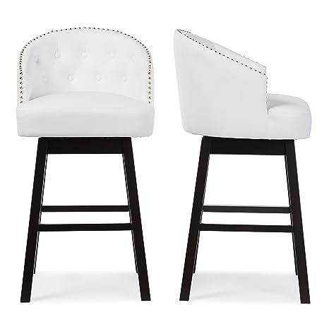 Peachy Baxton Studio Bar Stool 2 Piece Set White Uwap Interior Chair Design Uwaporg