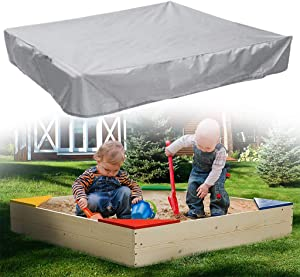 MXIAZU Square Sandbox Cover Water Protection Sandpit Protective Cover Shade Sail Drawstring Home Garden Outdoor Pool Beach Sand Toys Shelter Canopy All Seasons Gift Portable (Gray, 78.7X78.7X7.9inch)