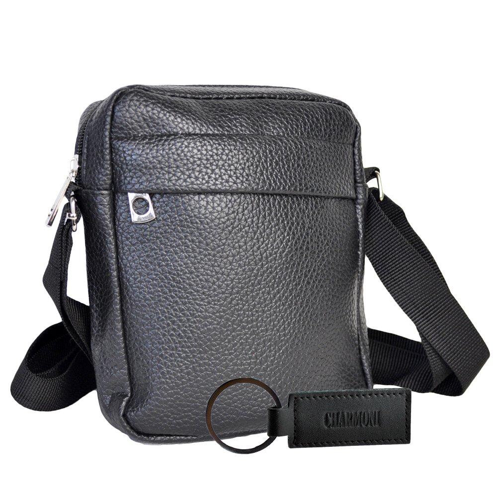 2f323f7a5f Charmoni - Sac pochette sacoche à bandoulière et sa porte clé cuir en cuir  synthétique