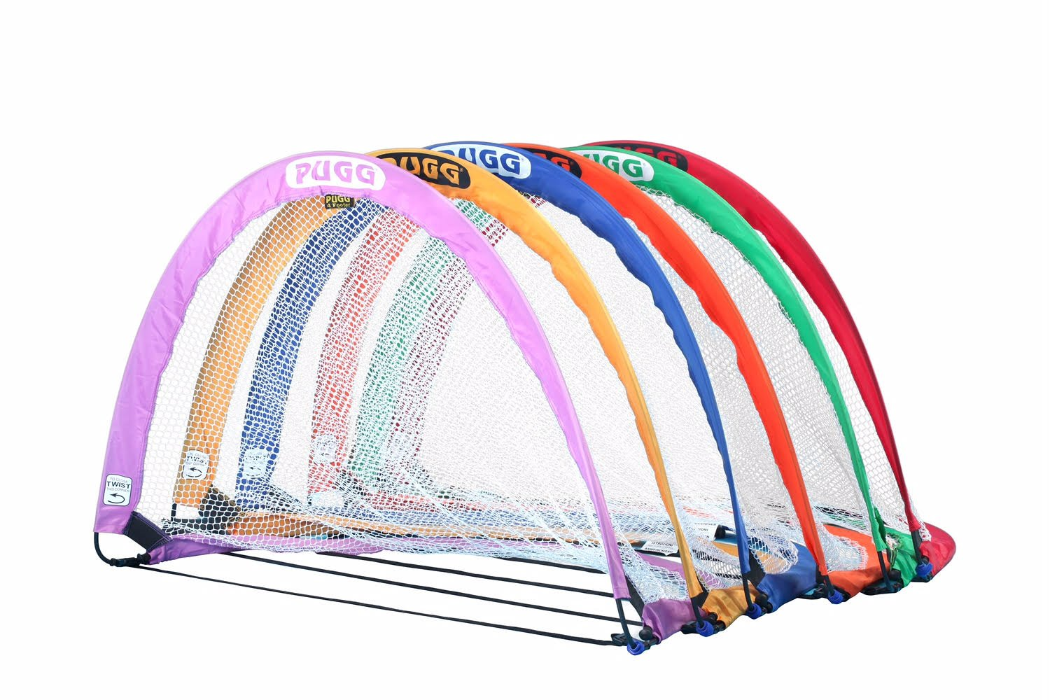 PUGG 4 Foot Portable Soccer Goal Set - Pack of 6