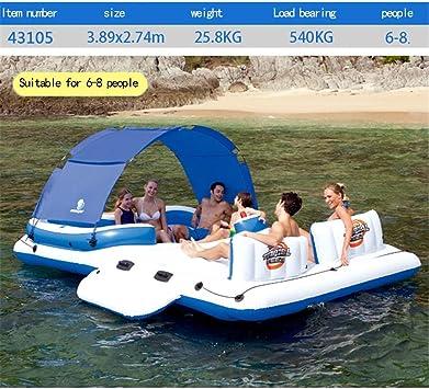 Cama flotante inflable del barco de la piscina grande, silla del ...