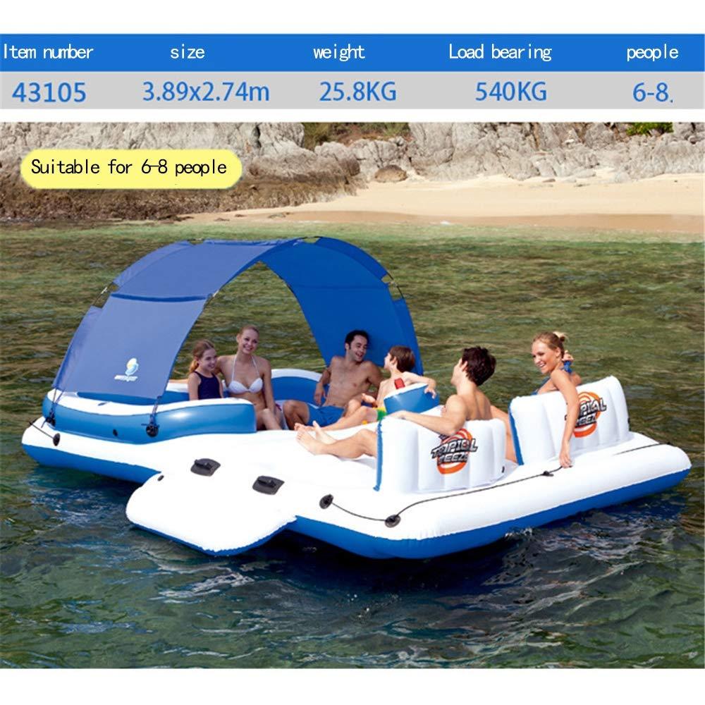 Cama flotante inflable del barco de la piscina grande, silla ...