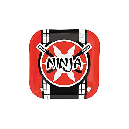 Amazon.com: Fun Express - Ninja Warrior Dessert Plates for ...