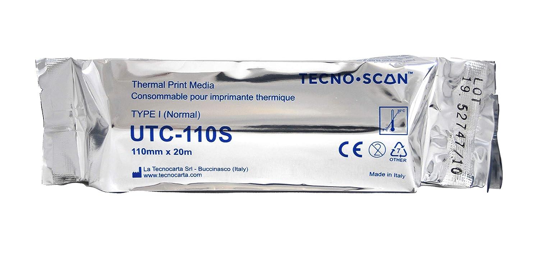 Rollos estándar para impresoras ecográficas Sony compatibles con UPP-110S (110 mm x 20 m)