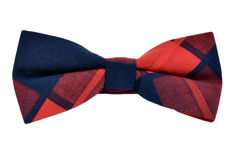 MENDENG Men's New 5 Pack Cotton Adjustable Pre-Tied Plaid Stripe Bow Ties Bowtie ENF0609