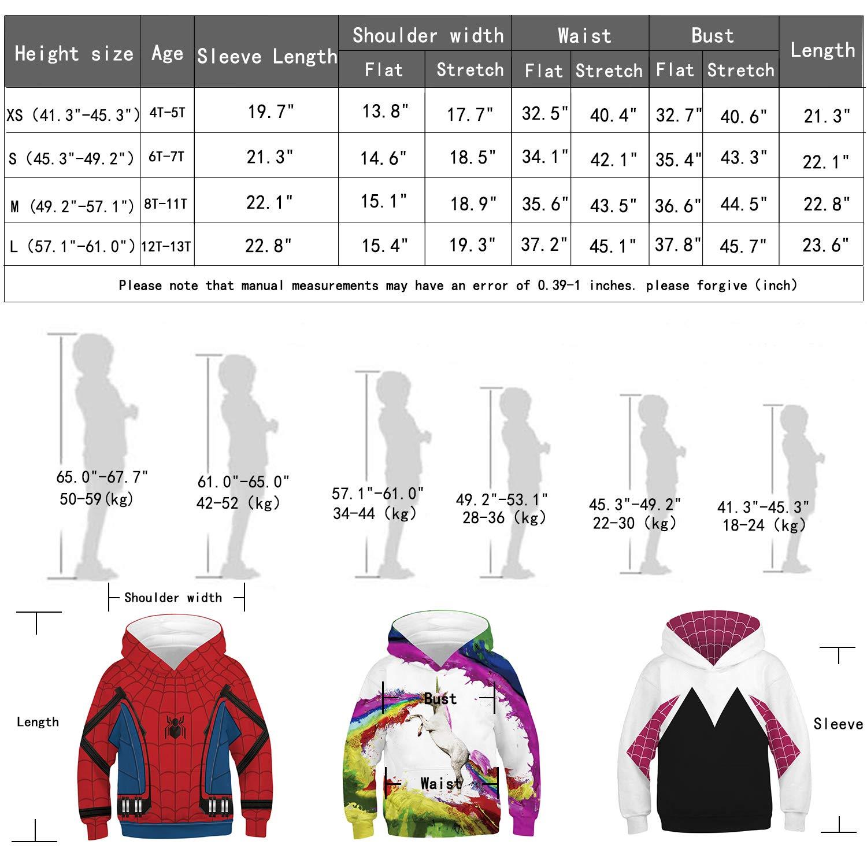 Im Fine Niño y niña suéter Impresión digital 3D Anime Traje de ...