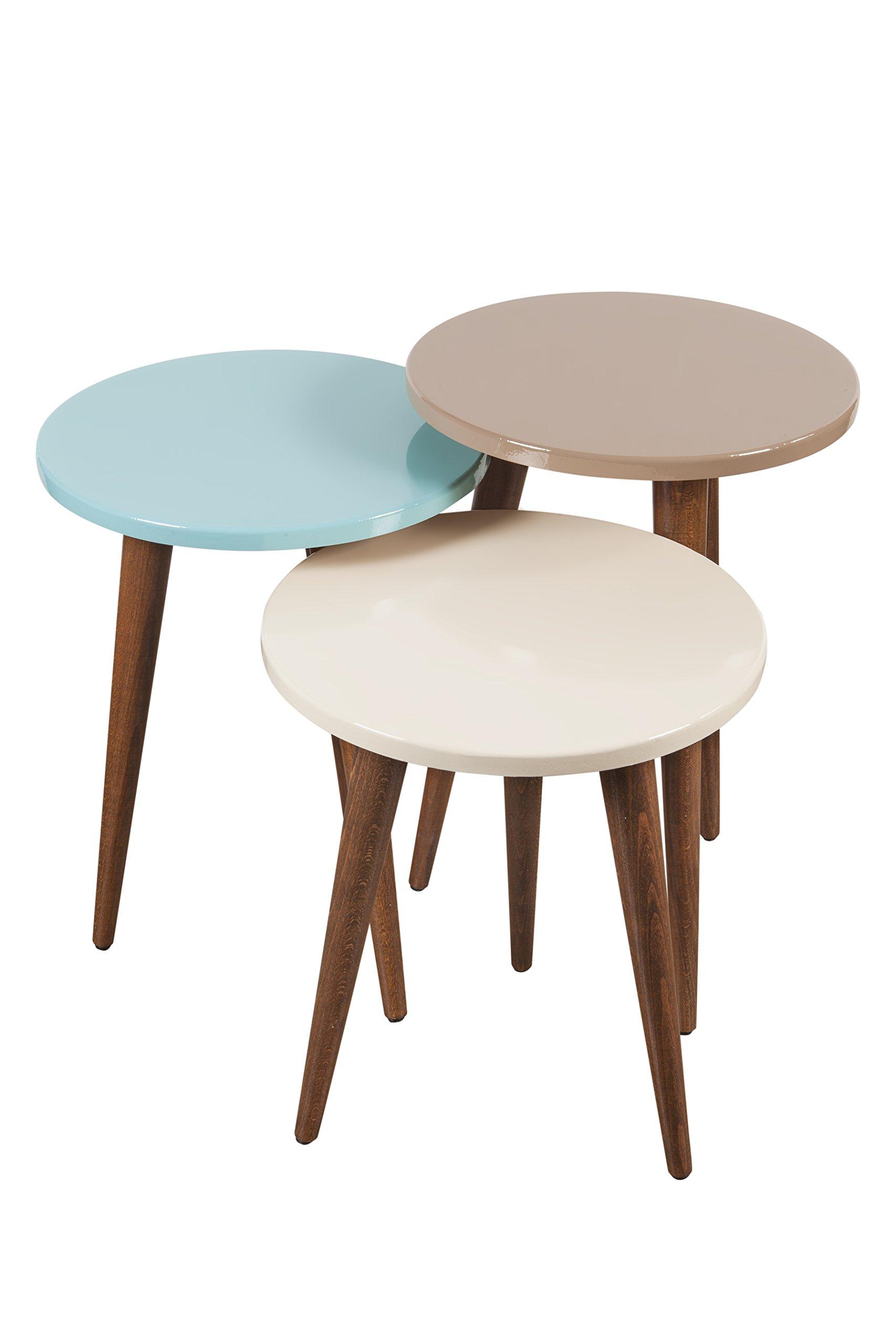 Decorotika - Tale 3-Piece Accent Nesting Table Set