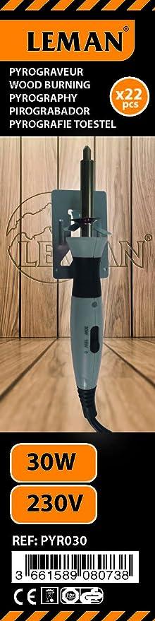 Leman PYR030 Pirograbador (30 W), Naranja, 0: Amazon.es: Bricolaje y herramientas