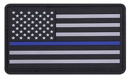 Amazon.com   Rothco PVC Thin Blue Line Flag Patch - Hook Back 6b4b417be145