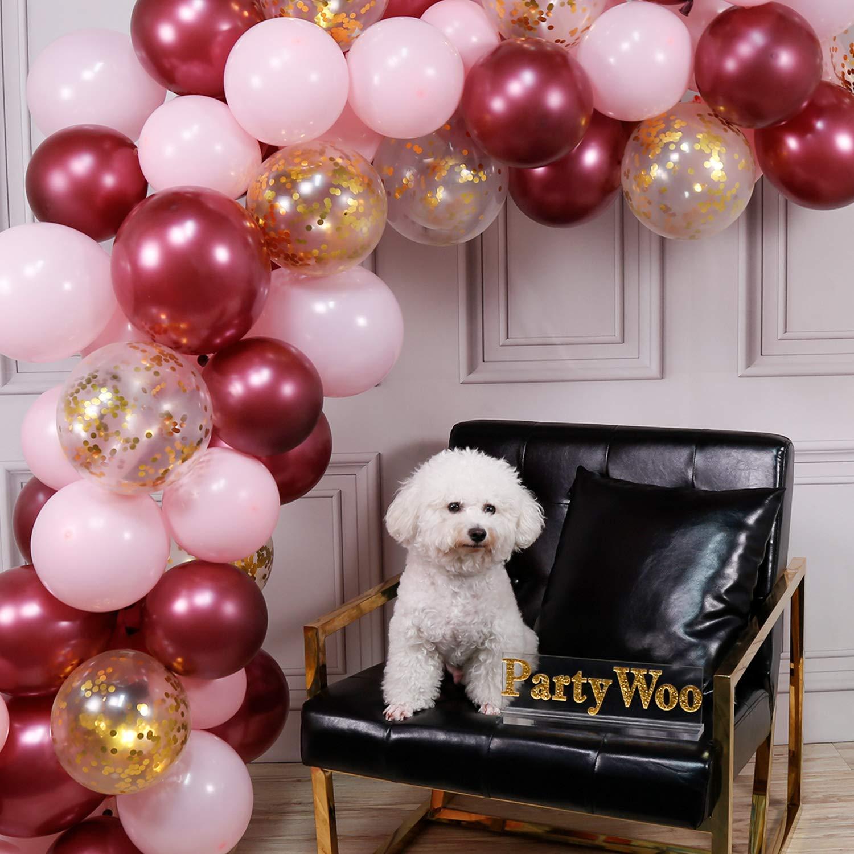 LATTLiv,706352932234 Party - Globo de látex, 2,8 g, macarrones de color burdeos, color rosa claro, 2,8 g, 30 cm