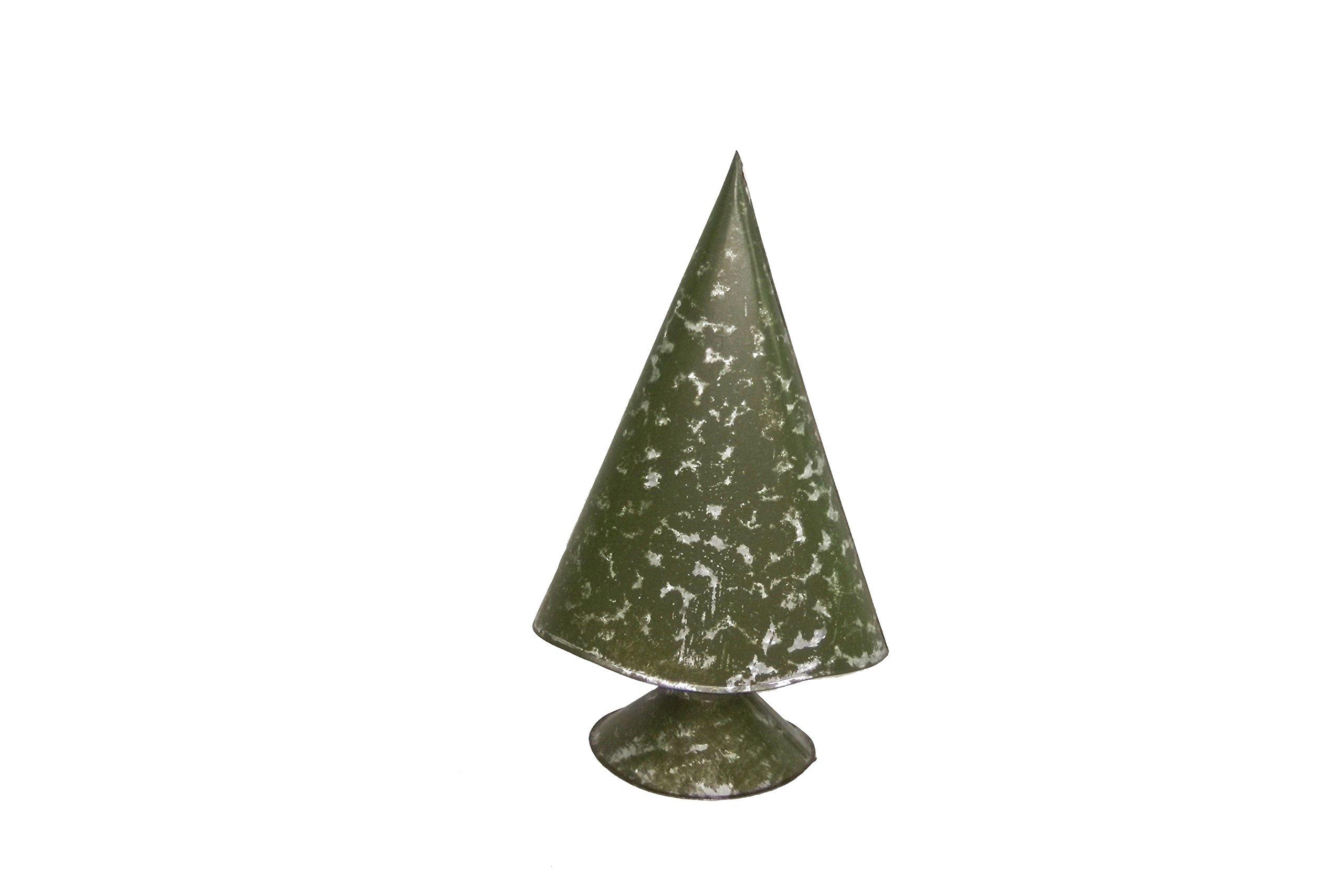 Small Moss Green Metal Christmas Tree - Set Of 2