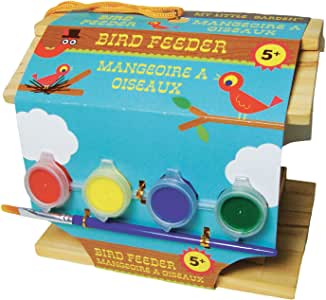 Amazon.com: My Little Garden / Paint Your Own Wood Bird Feeder by Sassafras: Toys & Games