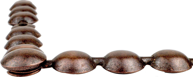 10,2 cm lange Streifen 2,2 cm Kopfdurchmesser Decotacks DX0511AC-S6M Antik Kupfer Polstern/ägel Zierleiste