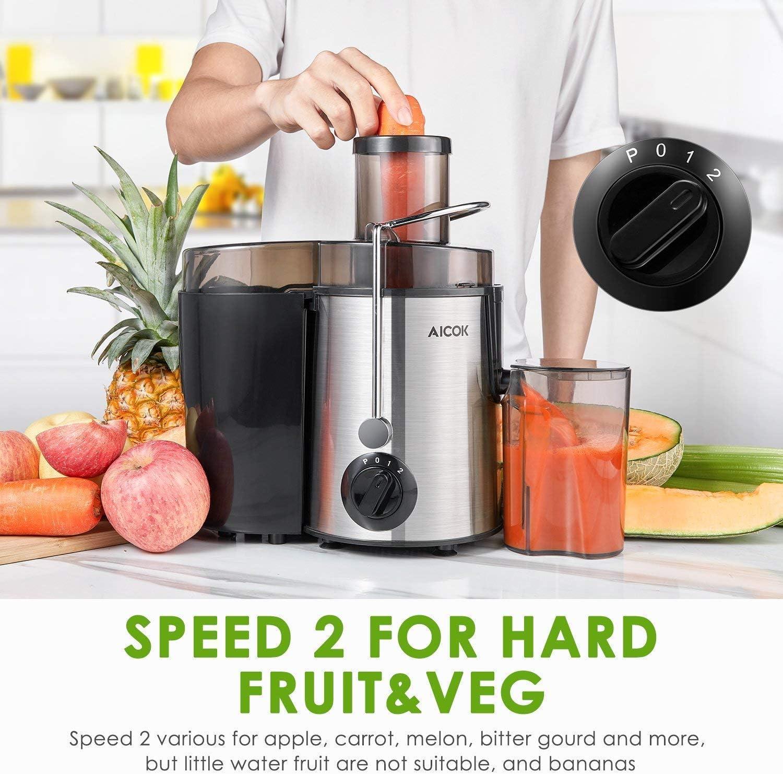 Aicok Licuadoras Para Verduras y Frutas Acero Inoxidable, 3 ...