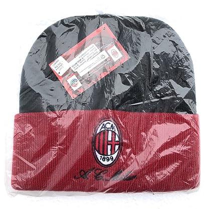 Gorro semiesférico – Milan Rojo Negro Gorra talla única – Sono Presenti 2 tipos, Verra