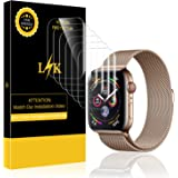 [6 Pack] LK Screen Protector for Apple Watch 44mm (Series 4), LiquidSkin [Full Coverage] Anti-Bubble with Lifetime Replacement Warranty
