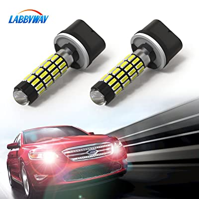 LABBYWAY 2 pcs 1000 Lumens 4014 51-EX Chipsets Super Bright Low Power 890 892 880 886 LED Bulbs Used For DRL or Fog Lights,Xenon White: Automotive