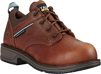 Ariat Womens Casual Work Oxford Sd Comp Toe Clogs/Shoes 9.5 C / Wide(Width) Nutty Brown LOgao