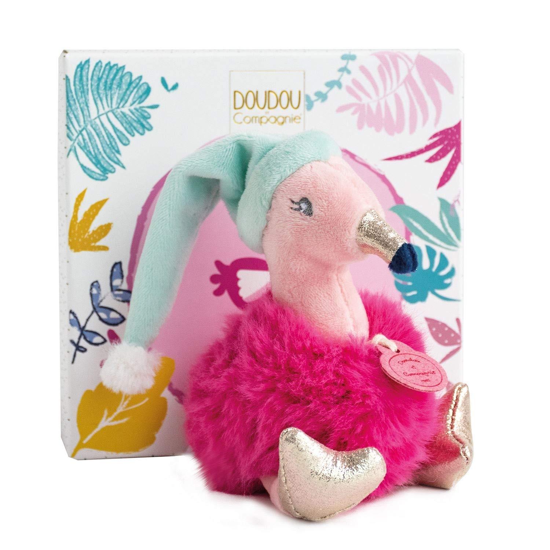 rosa Flamingo mit Hut Doudou et Compagnie DC3525 MINIZOO