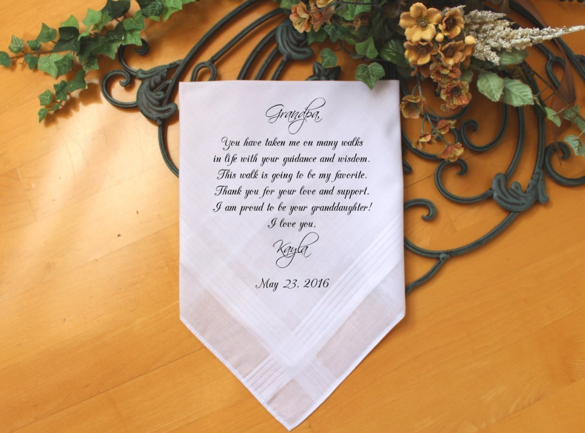 Grandfather of the Bride Handkerchief-Wedding Hankerchief-PRINT-CUSTOMIZE-Wedding gift to Grandpa-Grandfather hankie from the Bride-MS1FCAC by Snugahug[9]