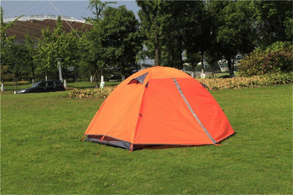 Kaxima Tienda de campaña al aire libre doble capa impermeable de aluminio poste Camping escalada