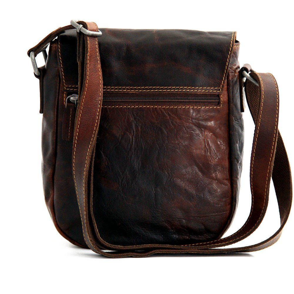 Jack Georges Voyager Horseshoe Crossbody Bag, Leather Shoulder Bag in Brown by Jack Georges (Image #2)