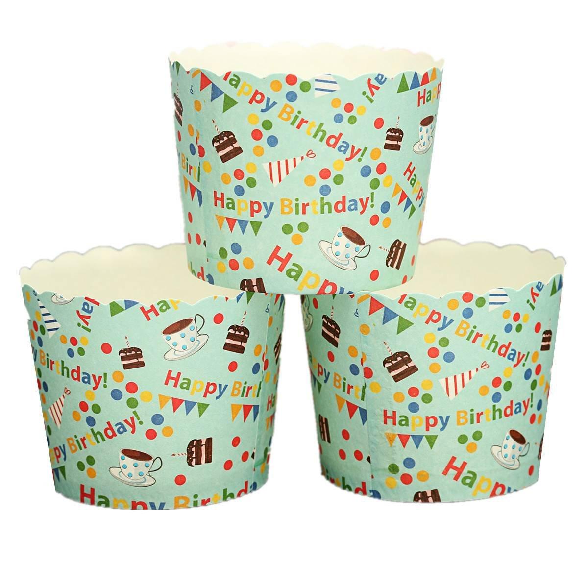 KING DO WAY 50pcs Muffin Cup kuchen backen cupcake kuchen papier dessert party hochzeit Muffinform happy Birthday 5.5cm x 4.5cm product image
