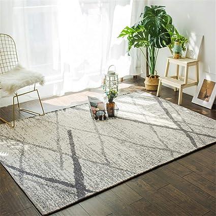 Amazon.com: QIAO Rug Nordic Minimalist Style Bedroom Carpet ...